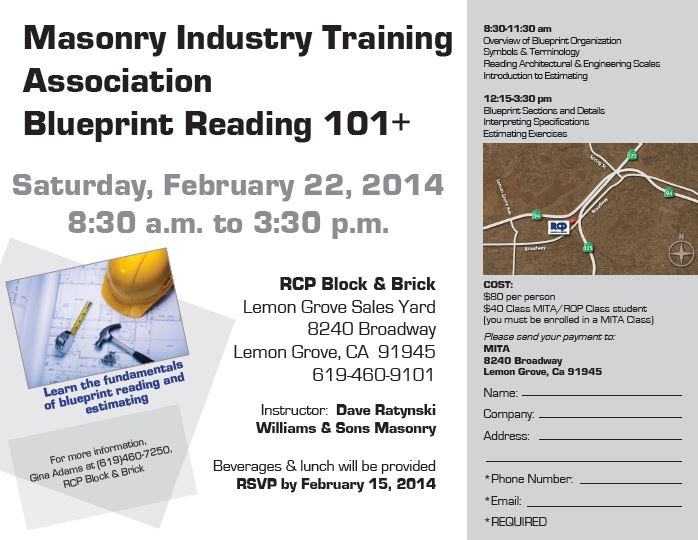 Mita Blueprint Reading Class Sign Up Now Mita Masonry Industry