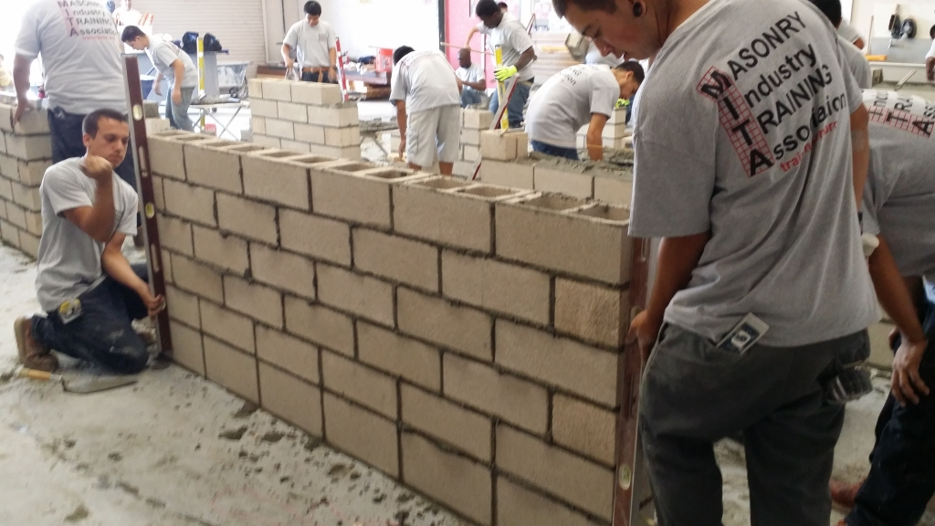 Top Notch Trowel competition brick laying