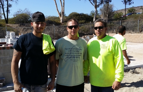 Thank you Dave's helpers! Arron Fereira of Williams & Sons and Mark Fereira of Modern Masonry