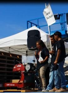 HS-MK Brick Saw donated to winning school Ontario