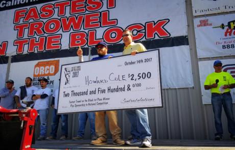 howard-cole-fastest-trowel.winner